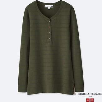 Uniqlo Women's Double Face Jersey Henley T-Shirt (ines De La Fressange)