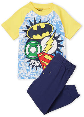 Justice League (Toddler Boys) Two-Piece Super Hero Tee & Joggers Set
