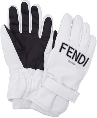Fendi logo ski gloves