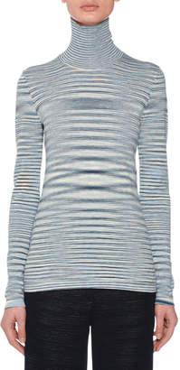 Missoni Turtleneck Long-Sleeve Wool Space-Dye Sweater