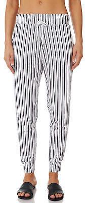 Swell New Women's Native Stripe Lounge Pant Cotton Polyester Elastane Black