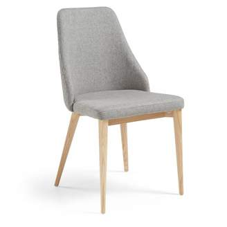 La Forma Australia Fox Quilted Dining Chair Light Grey