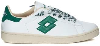 Lotto Leggenda Autograph White And Green Leather Sneaker
