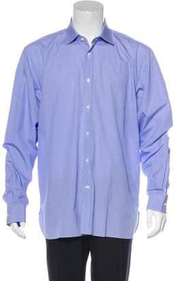 Ralph Lauren Purple Label Check Print Button-Up Shirt