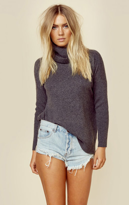 Minnie rose cashmere rib audra sweater $364 thestylecure.com