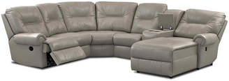 Asstd National Brand Brinkley 5-pc. Leather Reclining Chaise Motion Sectional