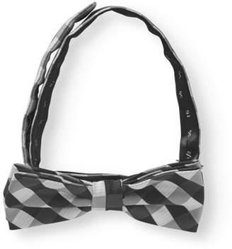George Black Modern Check Bow Tie
