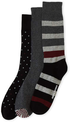 Ben Sherman 3-Pack Rugby Striped Crew Socks