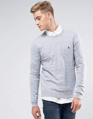 Jack Wills Seabourne Cashmere Mix Crew Neck Sweater In Light Gray