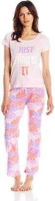 Carnival Women's Short Sleeve Top and Long Pant Pajama Set