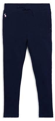 Ralph Lauren Girls' French Terry Sweatpants - Little Kid