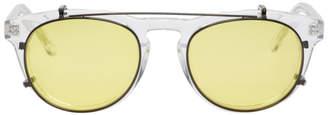 Han Kjobenhavn Transparent and Black Timeless Clip-On Sunglasses