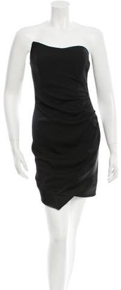 Nicole Miller Asymmetrical Strapless Dress w/ Tags $125 thestylecure.com