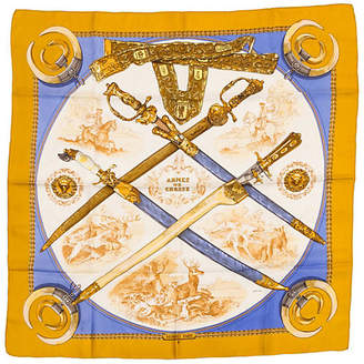 One Kings Lane Vintage Hermès Armes de Chasse Silk Scarf