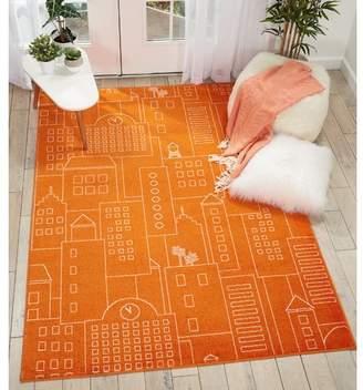 Ebern Designs Chunn Orange Area Rug Rug