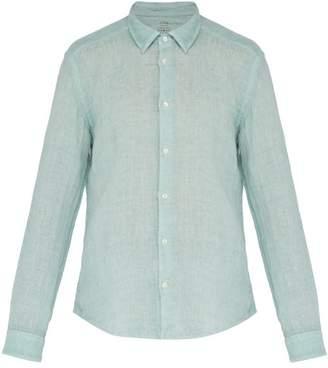 Altea Bond Button Fastening Linen Shirt - Mens - Green