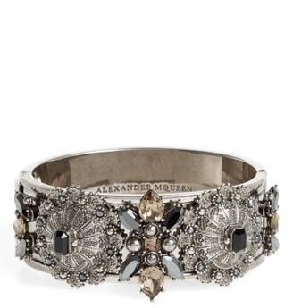 Women's Alexander Mcqueen Jeweled Hinge Cuff
