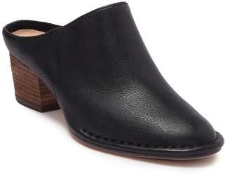 Clarks Spiced Isla Leather Block Heel Mule