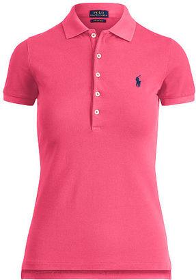 Polo Ralph Lauren Skinny Stretch Mesh Polo Shirt $89.50 thestylecure.com