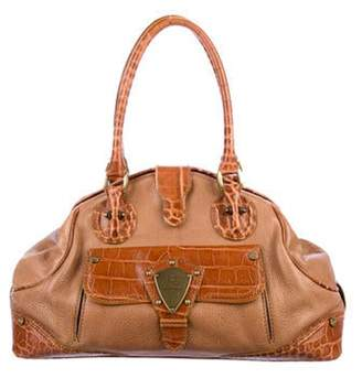 Etro Grained Leather Handle Bag brown Grained Leather Handle Bag