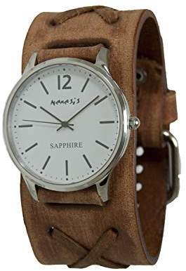 Nemesis Men's 'Sapphire' Quartz Stainless Steel and Leather Casual Watch