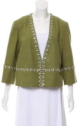 Tory Burch Embellished Collarless Jacket