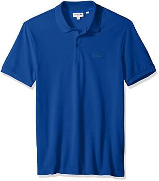 Lacoste Men's Short Sleeve Graphic Bonded Croc Jersey Slim Polo