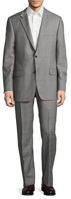 Hickey Freeman Regular-fit Millburn Wool Windowpane Suit