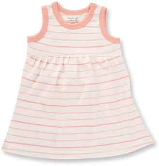 Sapling Child Peach French Stripe Dress (Baby Girls)