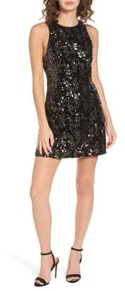 NBD Brianna Fit & Flare Sequin Dress