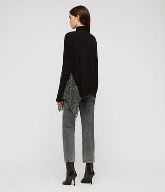 AllSaints Alda Splash Roll Neck Jumper