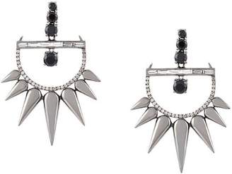 Elise Dray 18kt gold and diamond drop spiked earrings