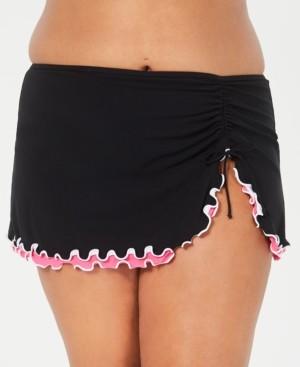 Gottex Plus Size Tutti Frutti Side-Slit Swim Skirt Women's Swimsuit