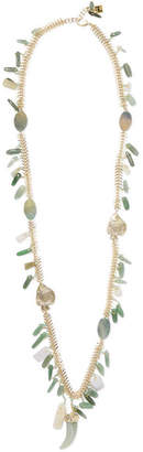 Rosantica Lisca Beaded Gold-tone Necklace - Green