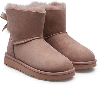 UGG Mini Bailey Bow Shearling Lined Suede Boots