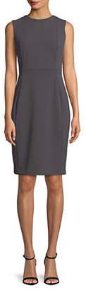 Calvin Klein Scuba Crepe Sleeveless Sheath Dress
