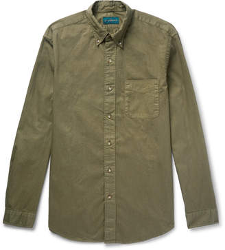 J.Crew Button-Down Collar Garment-Dyed Cotton-Twill Shirt