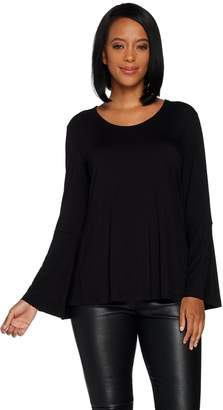 Halston H By H by Scoop Neck Bell Sleeve Top