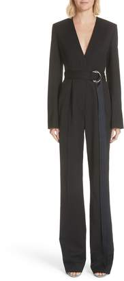 Calvin Klein Side Stripe Wool Blend Jumpsuit