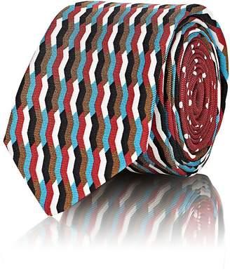 Prada Men's Mixed-Print Silk Necktie