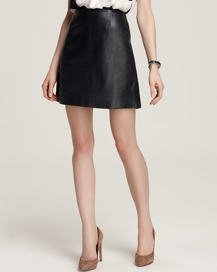 RAOUL Mini Leather Skirt