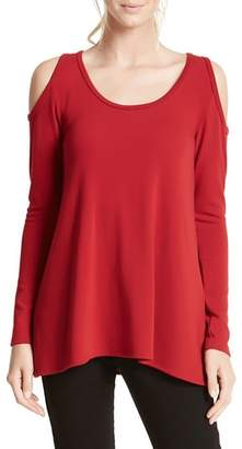 Karen Kane High/Low Cold Shoulder Sweater