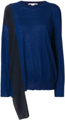Stella McCartney silk-panelled sweater