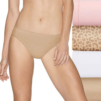 Hanes Ultimate Cool Comfort Fit Cotton Stretch 4 Pair Bikini Panty