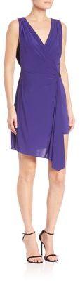 BCBGMAXAZRIABCBGMAXAZRIA Eda Asymmetrical Belted Jersey Wrap Dress