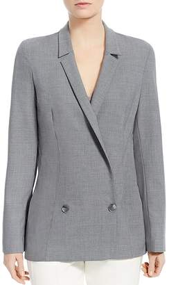 Halston Double-Breasted Suiting Blazer