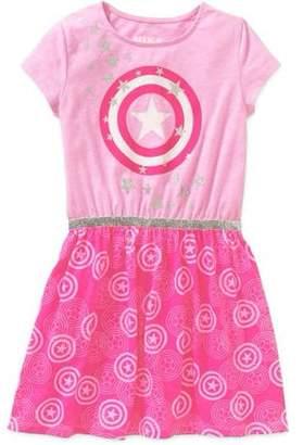 Captain America Girls' T-shirt Dress