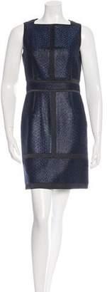 Proenza Schouler Silk Jacquard Sleeveless Dress