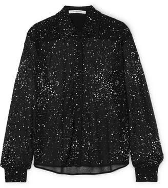 Givenchy Crystal-embellished Lace Shirt - Black