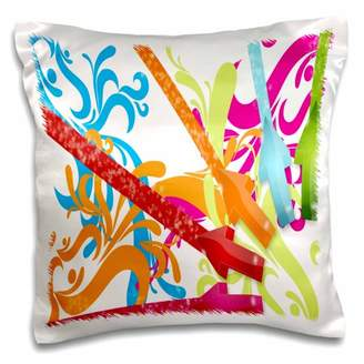 3dRose Water color art pretty and bright - Pillow Case, 16 by 16-inch